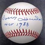 "Bobby Hull Autographed Baseball Inscribed ""HOF 1983"""