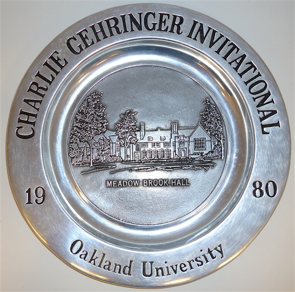 Charlie Gehringer Golf Outing Pewter Plate