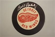 Bill Gadsby Autographed Red Wings Puck