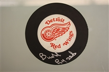 Budd Lynch Autographed Detroit Red Wings Puck