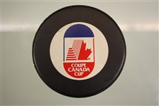 Canada Cup Unsigned Souvenir Puck