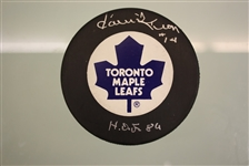 Dave Keon Autographed Toronto Maple Leafs Puck w/ HOF Inscription