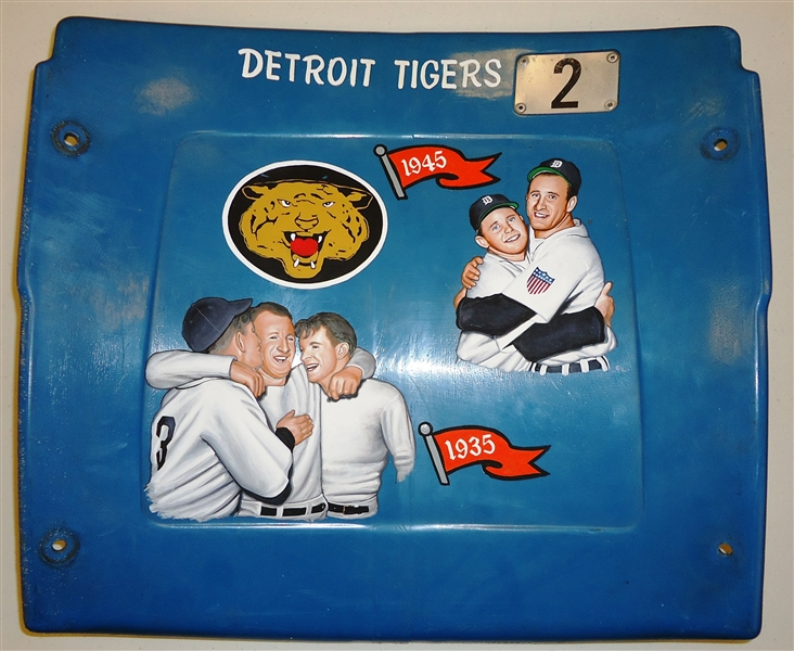 1935/1945 Tigers Champs Hand Painted Seatback