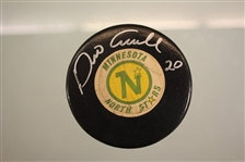 Dino Ciccarelli Autographed North Stars Official Game Puck