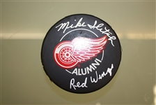 Mike Ilitch Autographed Detroit Red Wings Puck