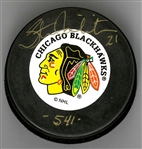 "Stan Mikita Autographed Blackhawks Puck Inscribed ""541"""