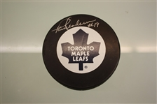 Paul Henderson Autographed Toronto Maple Leafs Puck
