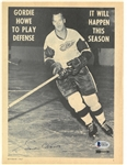 Gordie Howe Autographed Magazine Article
