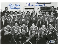 Gordie Howe & Ted Lindsay Autographed All Star 8x10 Photo