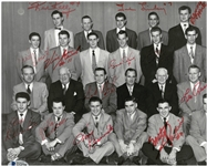 1952 Detroit Red Wings Stanley Cup Team Signed 8x10 Photo
