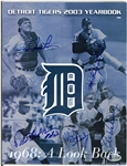 1968 Tigers Anniversary Signed Program