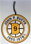 Johnny Bucyk Autographed Mini Retirement Banner