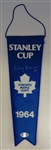 1964 Leafs Mini Stanley Cup Banner Signed by Bower