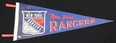 New York Rangers Autographed Pennant (8 Autos)