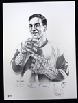Ted Lindsay Autographed 12x16 Lithograph