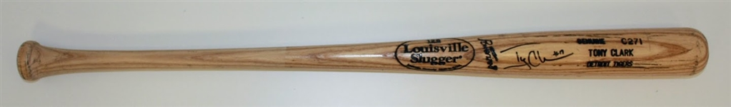 Tony Clark Signed Game Ready Bat