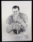 Sid Abel Autographed 12x16 Lithograph
