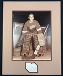 Roger Crozier Autographed Matted Display