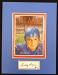 Bobby Layne Autographed Time Magazine Matted Display