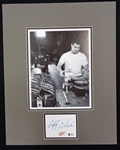 Lefty Wilson Autographed Matted Display Piece