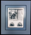 Johnny Bower Autographed Matted Lithograph