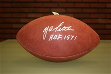 Y.A. Tittle Autographed Official NFL Football