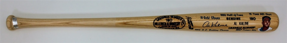 Al Kaline Signed Hand Painted Bat