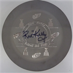 Red Kelly Autographed 1 of a Kind Engraved Ashtray