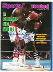 Michael Spinks & Larry Holmes Autographed 1985 Sports Illustrated