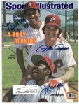 Rose, Perez & Morgan Autographed 1983 Sports Illustrated