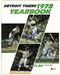 1978 Tigers Yearbook Signed by 4