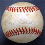 Norm Cash Autographed Official AL Baseball