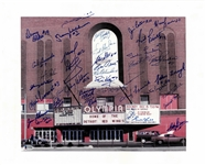 Olympia Stadium 16x20 Signed by 30 Red Wings