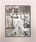 Joe DiMaggio Autographed Matted Photo