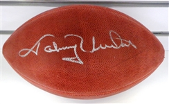 Johnny Unitas Autographed Football