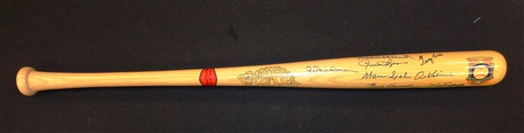 Hall of Fame Bat Signed by 8 Players