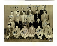 1950/51 Red Wings Team Signed 16x20