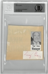 King Clancy Autographed Cut Signature.
