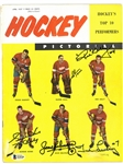 Hockey Pictorial Signed by 5 Hall of Famers