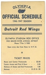 1946/47 Red Wings Schedule - Gordie Howe Rookie Season