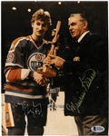 Wayne Gretzky & Maurice Richard Signed 8x10 Photo