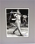 Ted Williams Autographed Matted Photo