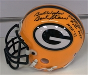 Bart Starr Signed & Inscribed Mini Helmet