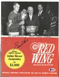 Gordie Howe Autographed 1963/64 Program