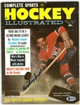 Boom Boom Geoffrion Autographed Hockey Illustrated Magazine