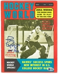 Tony Esposito Autographed 1970 Hockey World Magazine