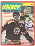 Phil Esposito Autographed 1971 Hockey Pictorial Magazine