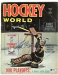 Gerry Cheevers Autographed 1972 Hockey World Magazine