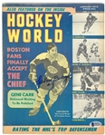 Johnny Bucyk Autographed 1972 Hockey World Magazine