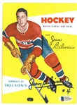 Jean Beliveau Autographed Molson Hockey Manual